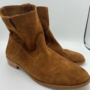 REBECCA MINKOFF Chasidy Brown Pull On Ankle Boots